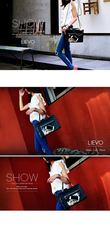 LIEVO|真皮兩用隨身方包-SHOW(深蒼綠)
