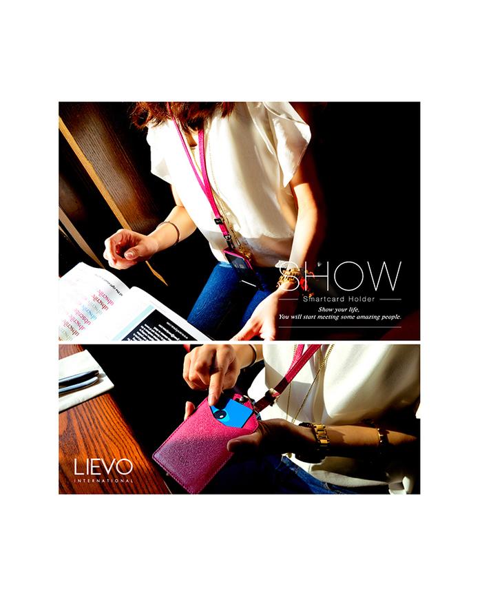 LIEVO|感應式證件套-SHOW(蜜桃紅)