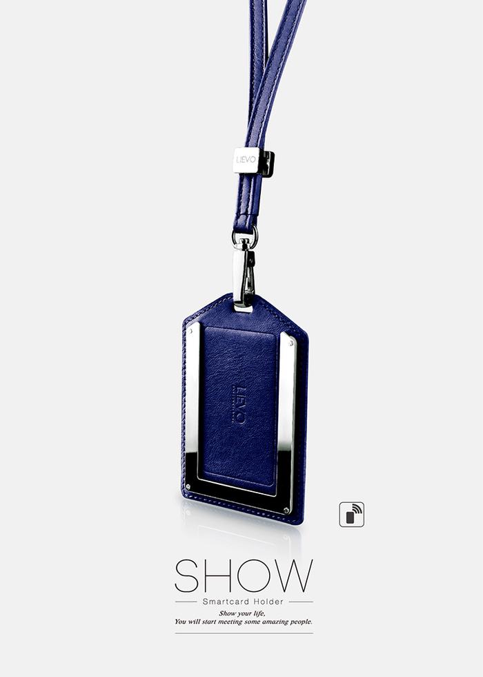 LIEVO|感應式證件套-SHOW(午夜藍)