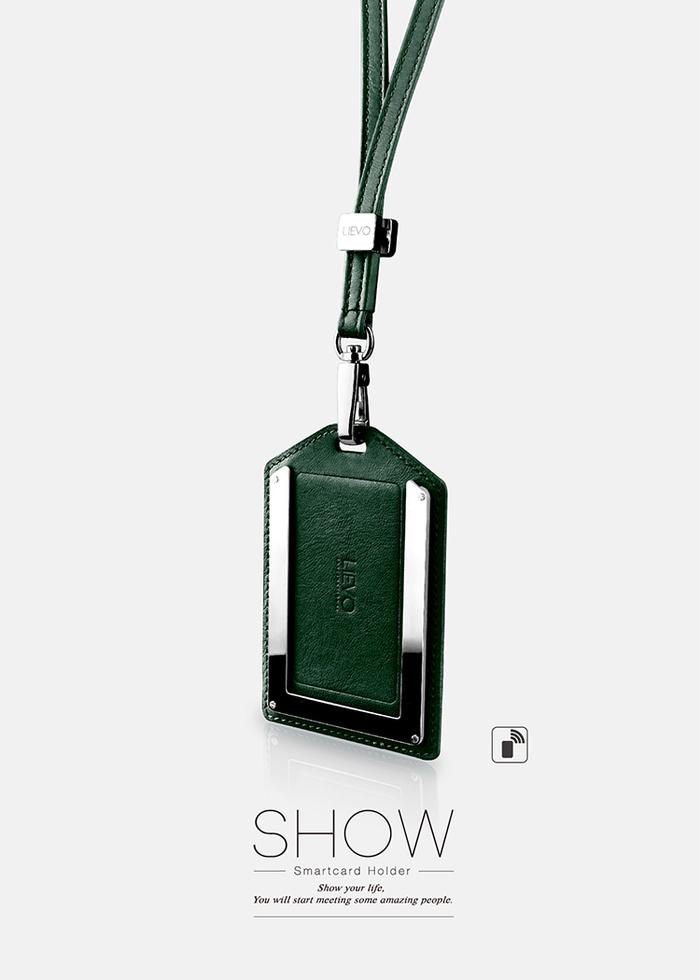 LIEVO|感應式證件套-SHOW(深蒼綠)