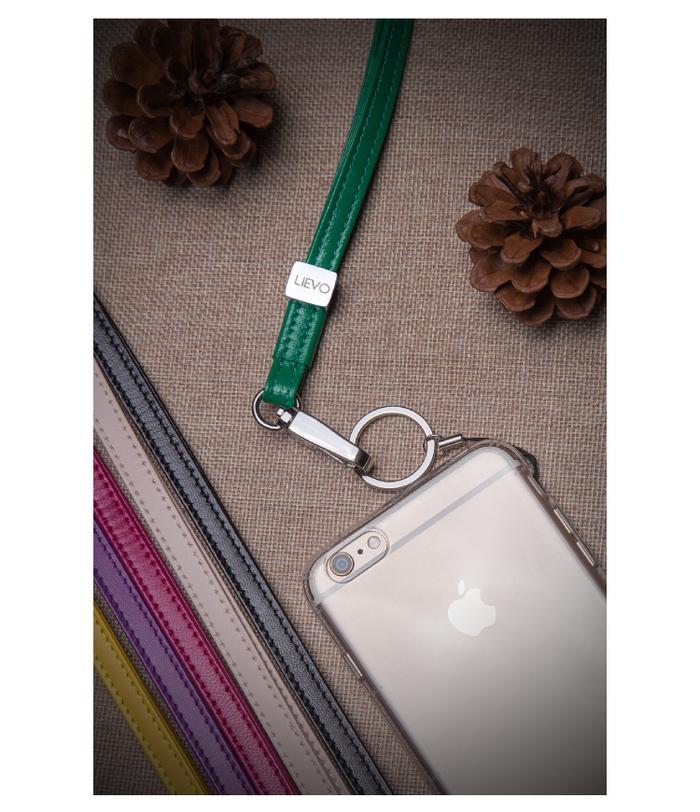 LIEVO │ 小羊皮頸繩(桃紅)