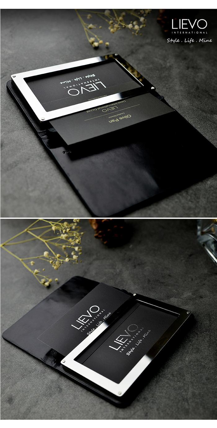 LIEVO 名片夾(霧墨灰) + 水蠟皮短夾禮盒組