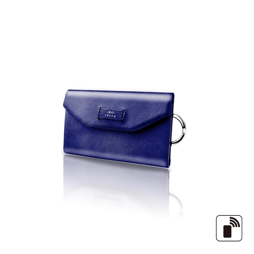 LIEVO 卡片鑰匙包-STORY(深礦藍)