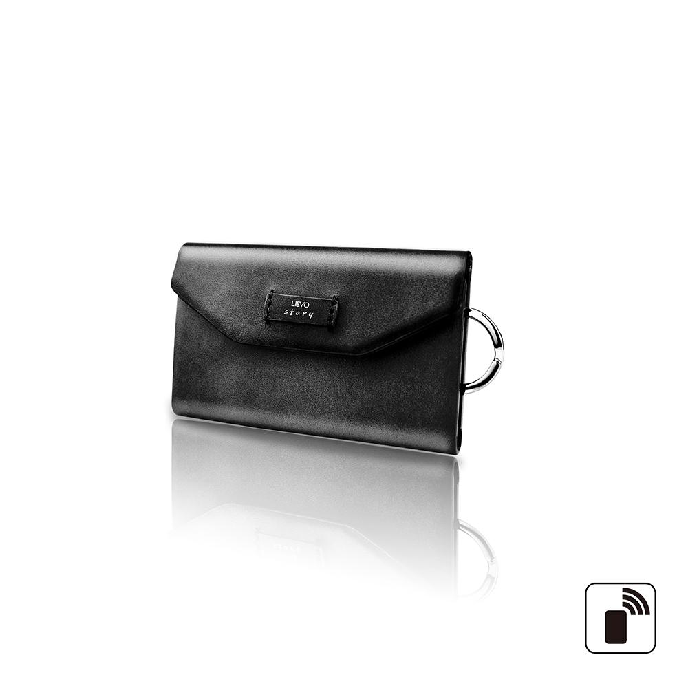 LIEVO 卡片鑰匙包-STORY(率性黑)