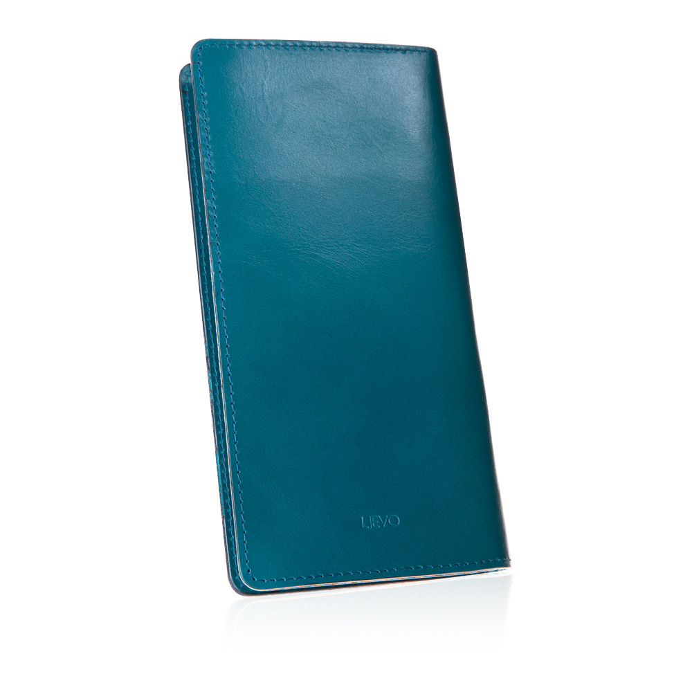 LIEVO │ 水蠟皮長夾(2層)(海洋藍)