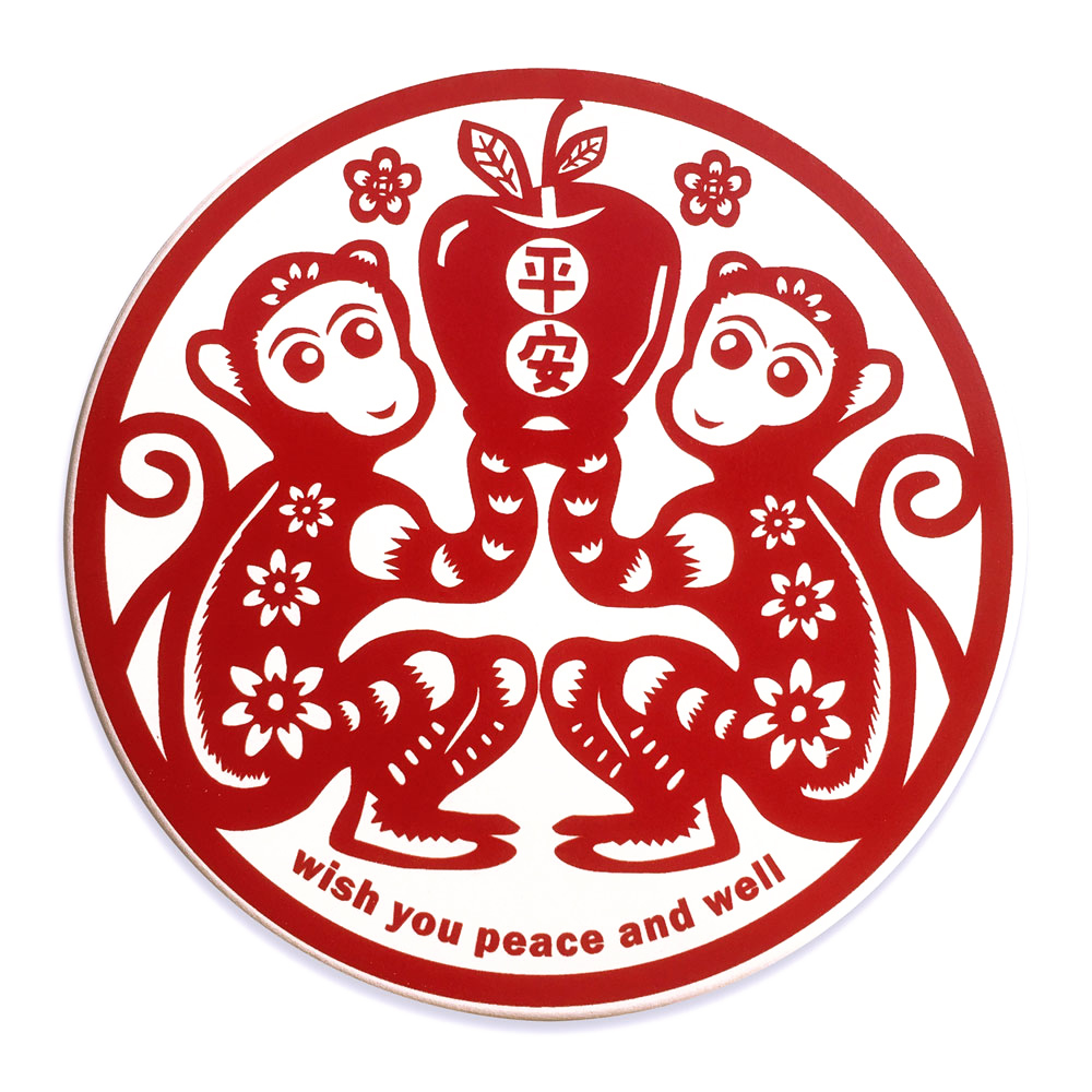 寶號BONHO|猴平安陶瓷吸水杯墊