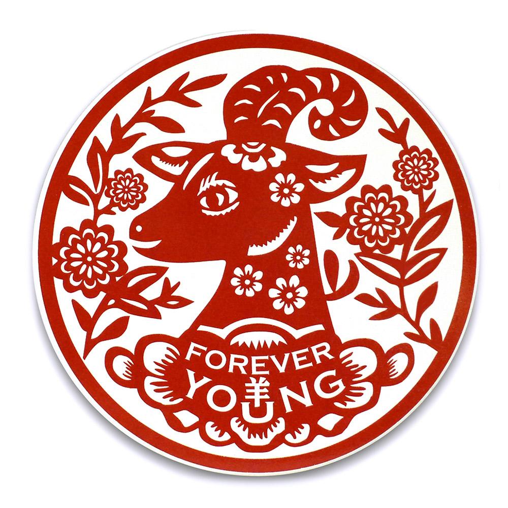 寶號BONHO|Forever Young 青春羊陶瓷吸水杯墊