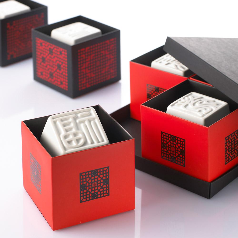 寶號BONHO|賜喜印章杯組(紅盒)