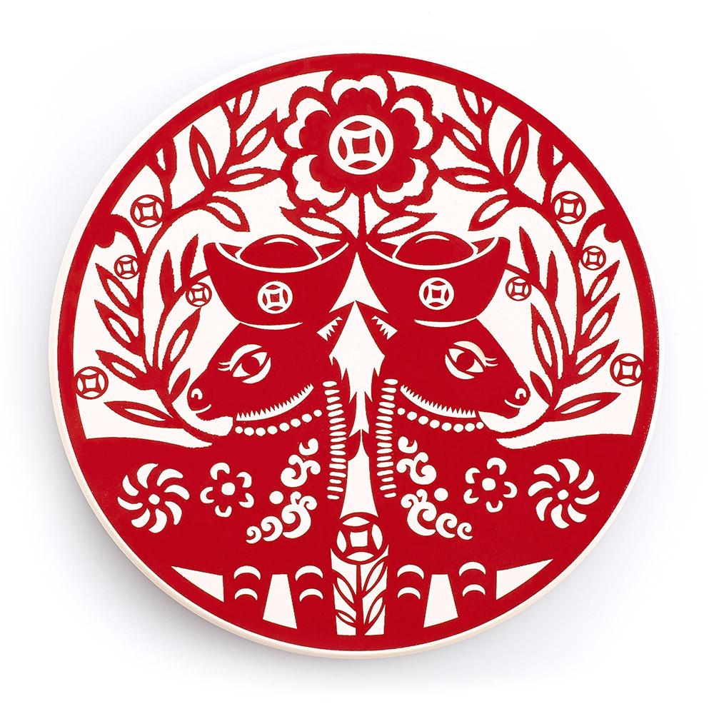 寶號BONHO|馬上銀(贏)-陶瓷吸水杯墊(可愛版)