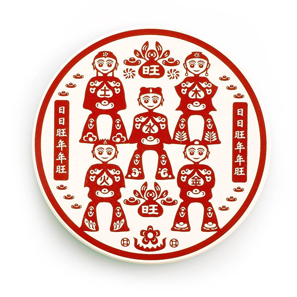 寶號BONHO|旺童-日日旺陶瓷吸水杯墊