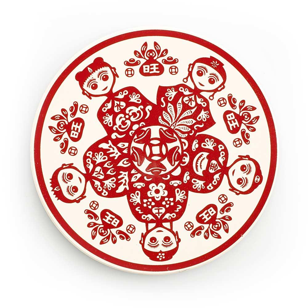 寶號BONHO|旺童-時來運轉陶瓷吸水杯墊