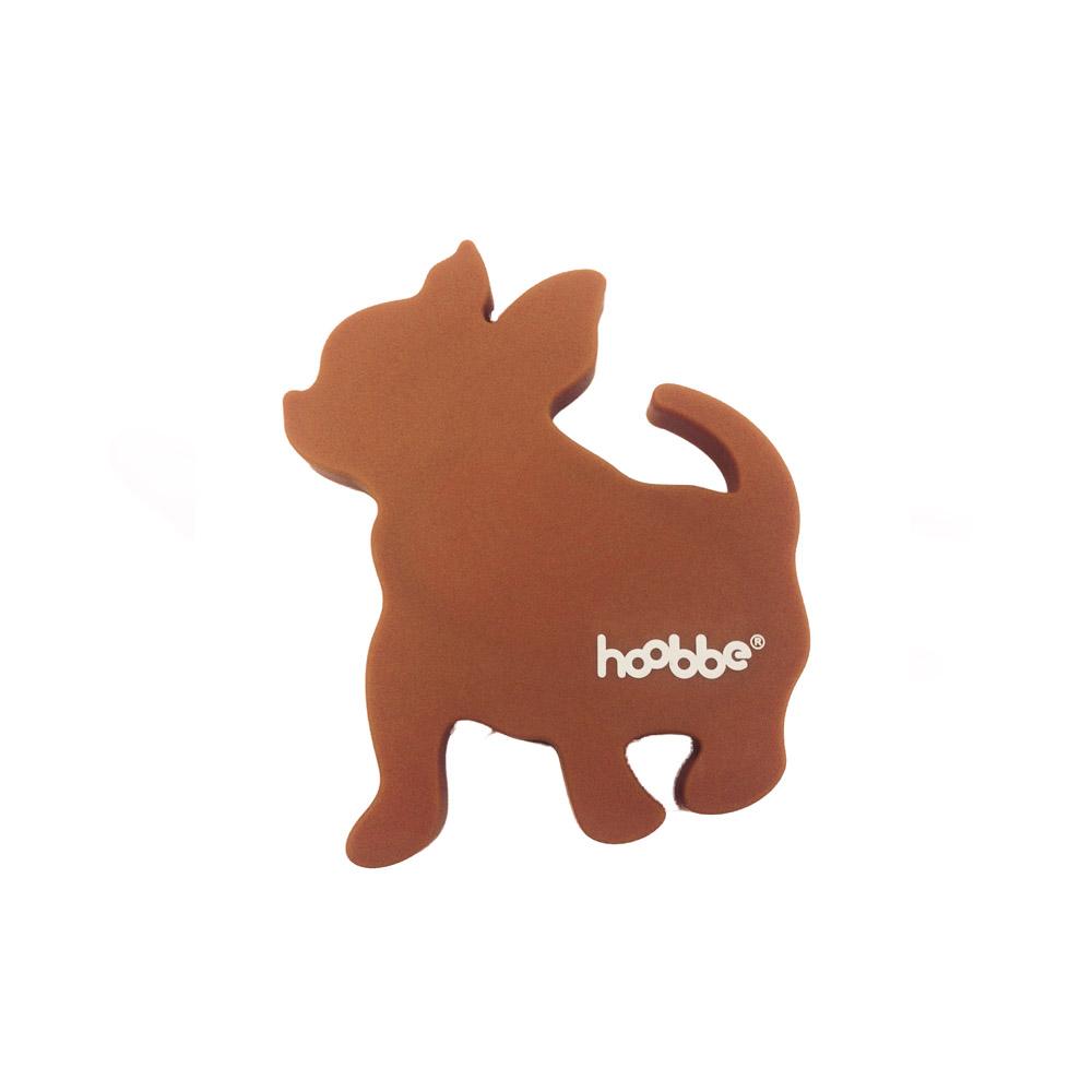 HOOBBE 趣味聲音杯墊(粉橘狗)