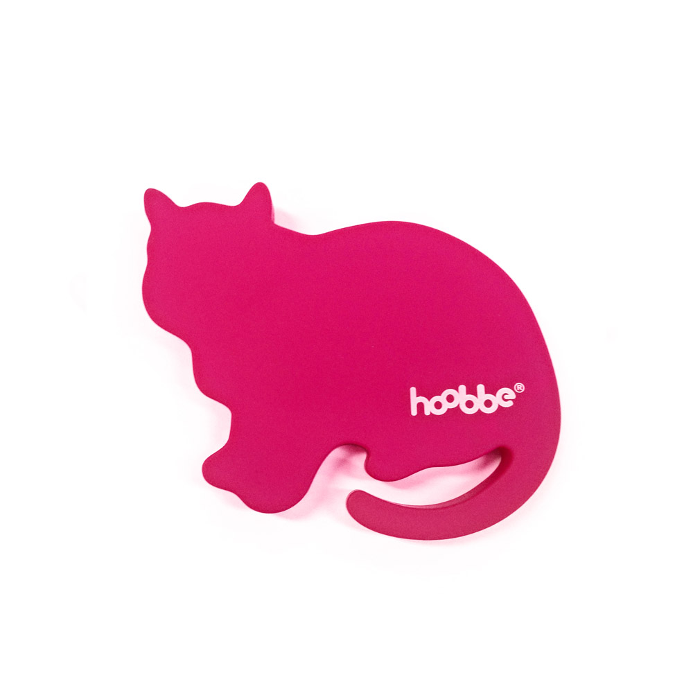 HOOBBE|趣味聲音杯墊(粉紅貓)