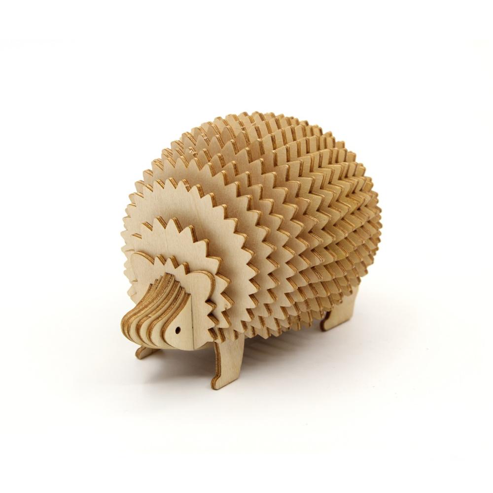 TEAM GREEN│木質3D拼圖-刺蝟
