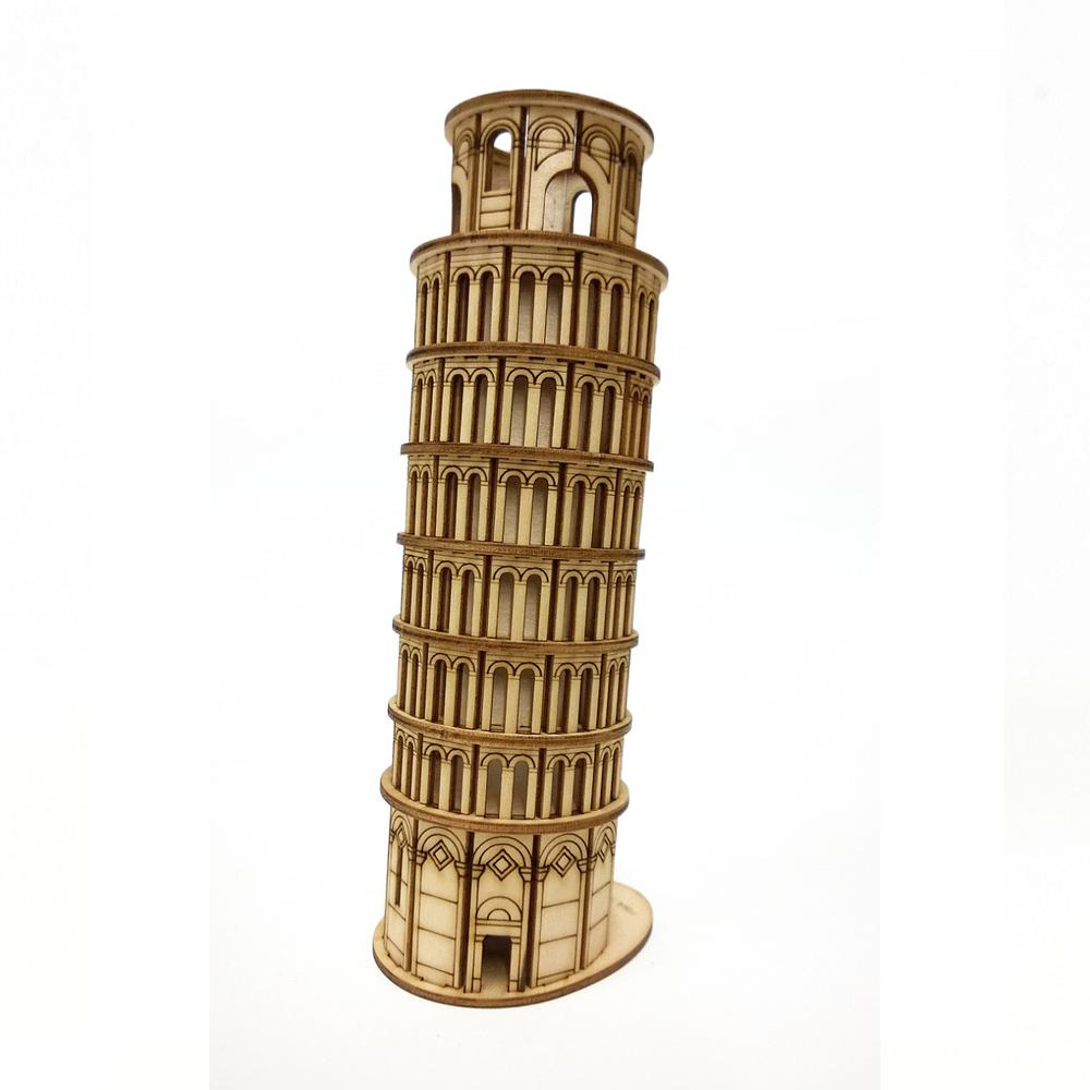 TEAM GREEN│木質3D拼圖-比薩斜塔