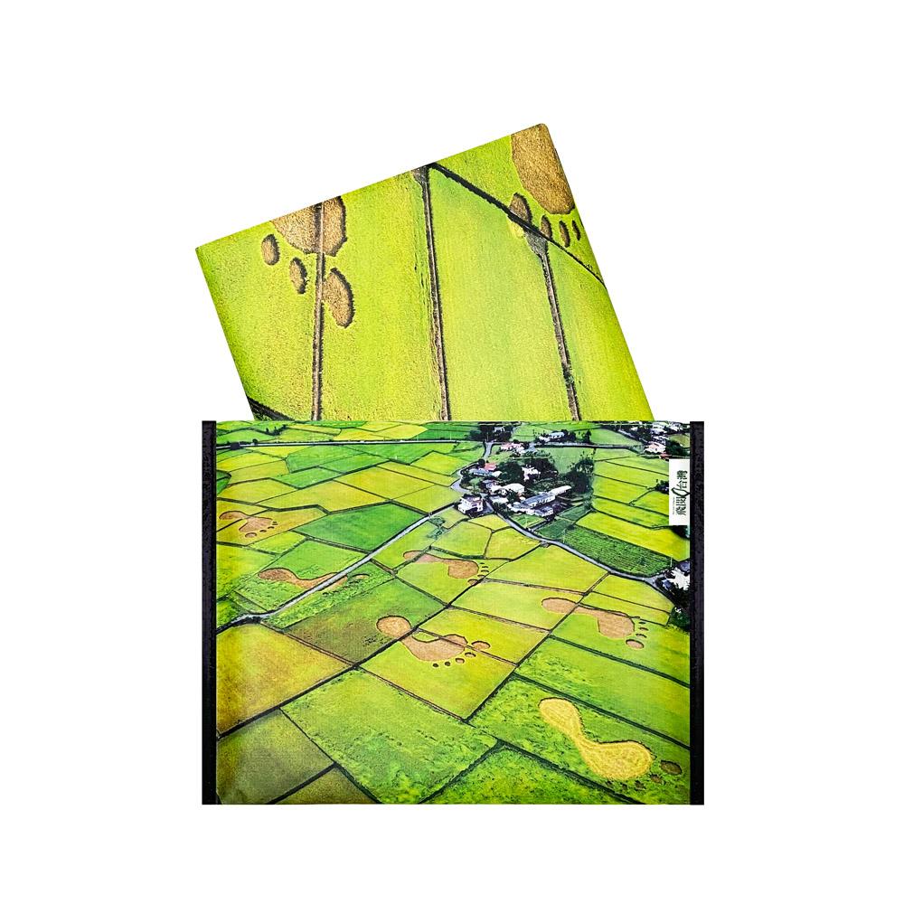 Sunny Bag|看見‧齊柏林基金會-野餐墊/休閒蓆-花蓮稻田大腳印