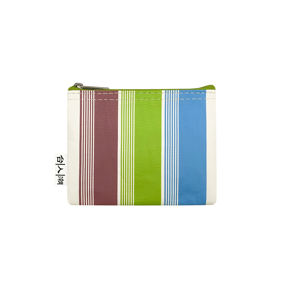 Sunny Bag 台人潮-零錢包-芷茄經典紅藍綠條紋(直)