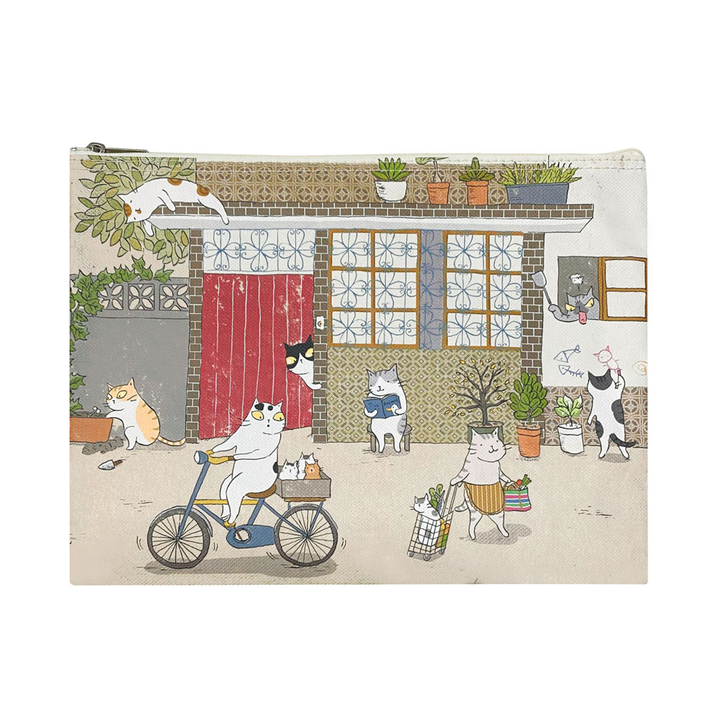 Sunny Bag 貓小姐Ms.Cat-萬用收納袋(大)_貓日常