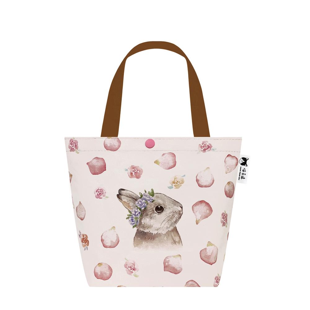 Sunny Bag|喵星達-玫瑰花兔兔托特包