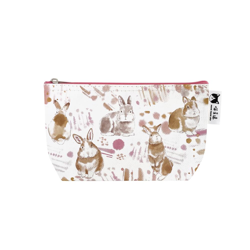 Sunny Bag|喵星達-兔兔暈染化妝包