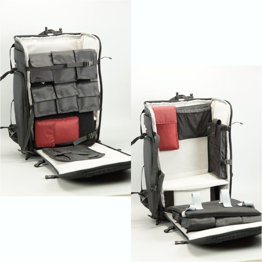 Ksarkiter|D504反重心式旅行相機背包-微單眼模式