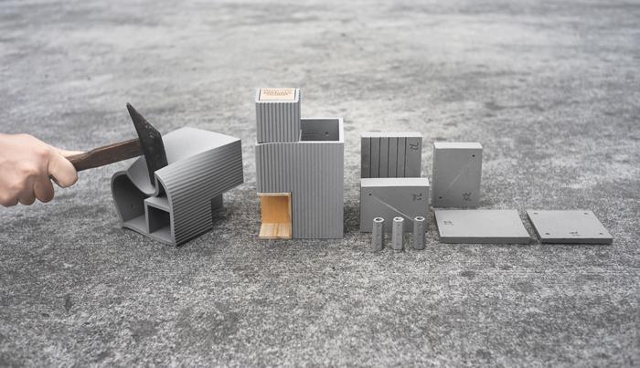 tripleliving|小城市軟水泥文具組