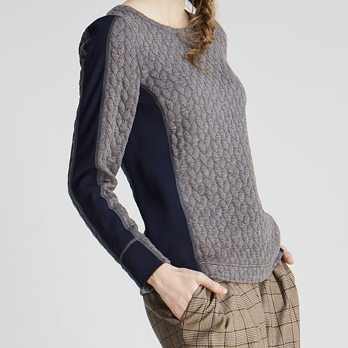 design+|拼接鋪棉上衣(1702TP02GR)