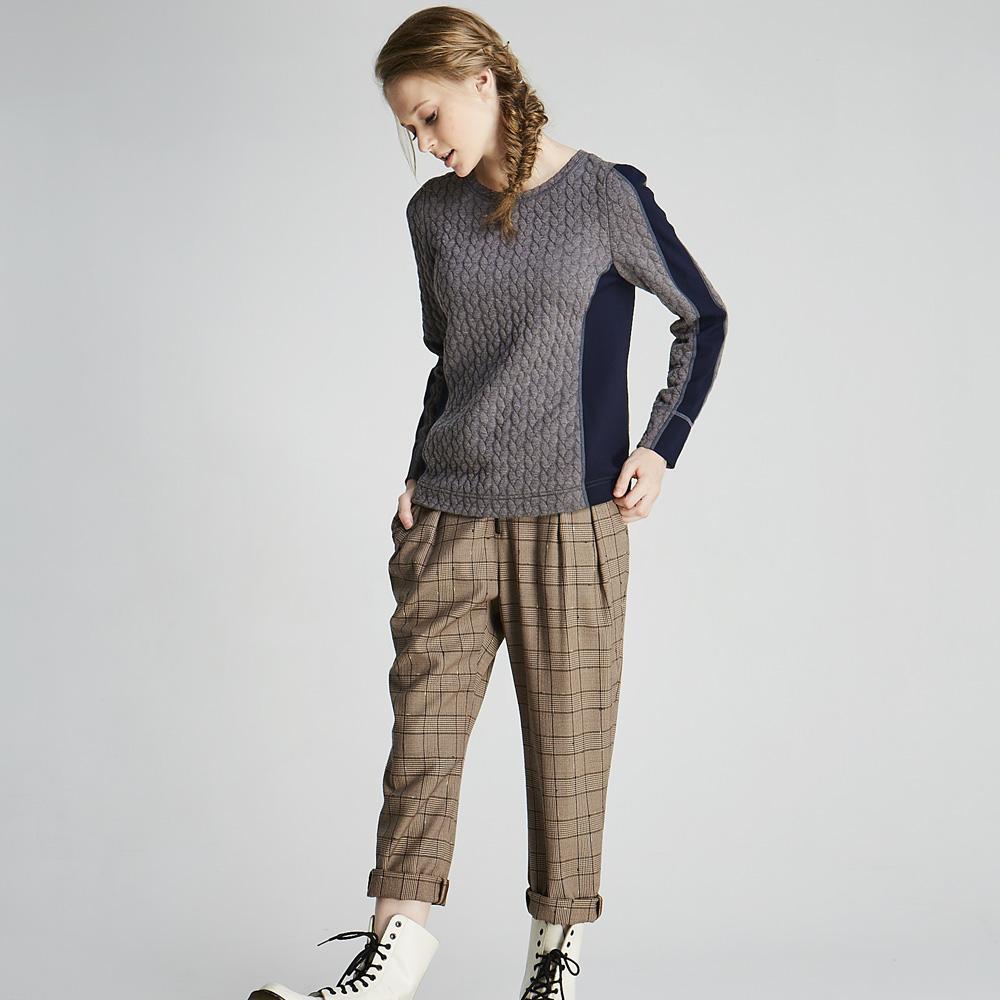 design+|英倫淘氣格紋褲(1702PT02BR)