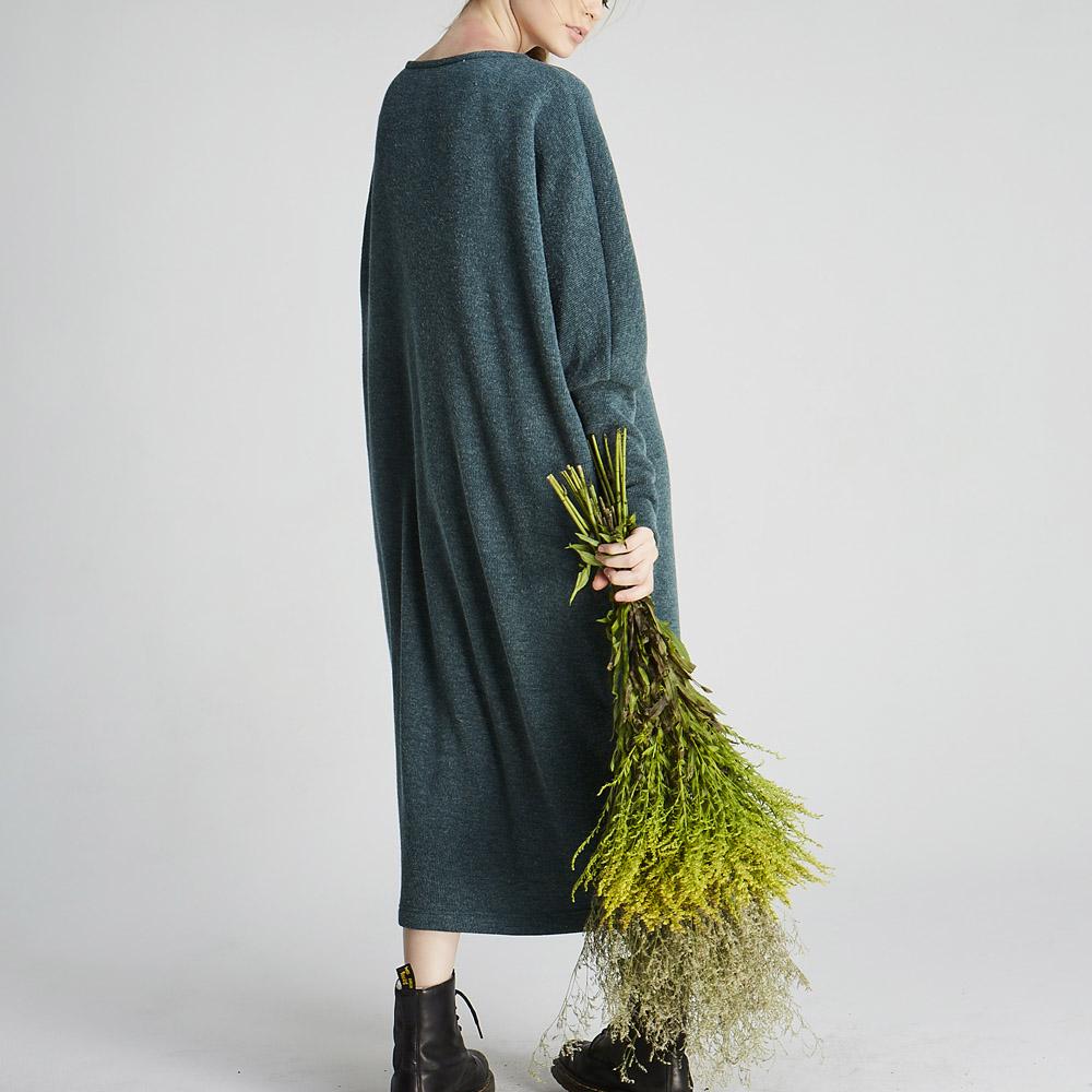 design+|蝙蝠縮袖針織長洋(1702DS01GN)