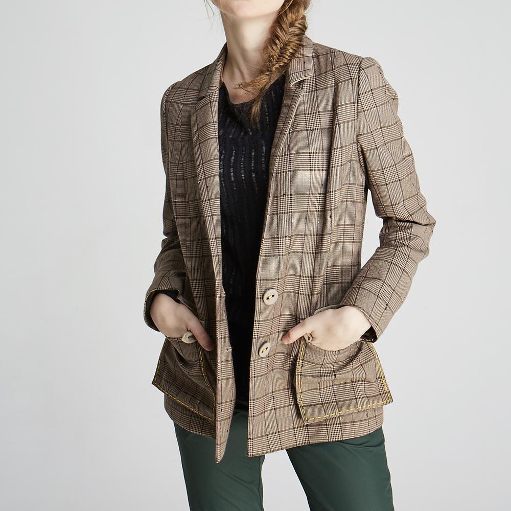 design+|英倫補丁西裝外套(1702JK01BR)