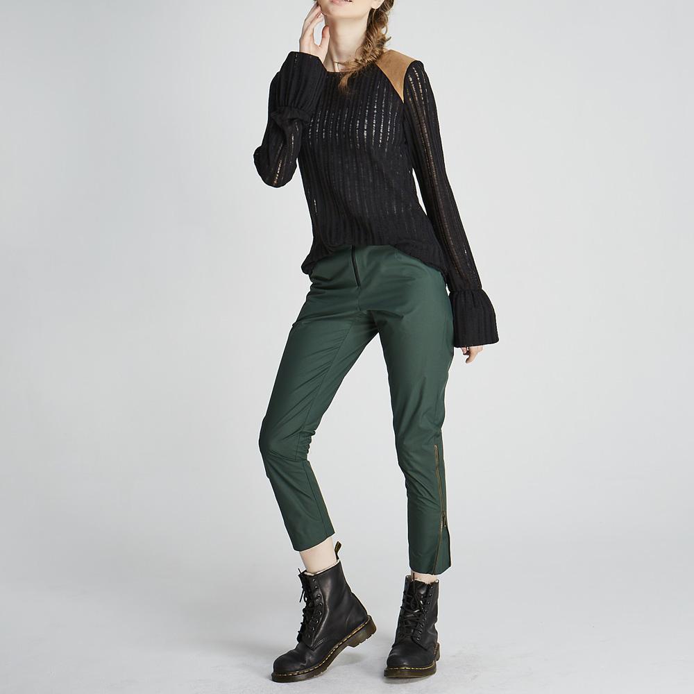 design+|軍綠八分西裝褲/ (1702PT01GN)