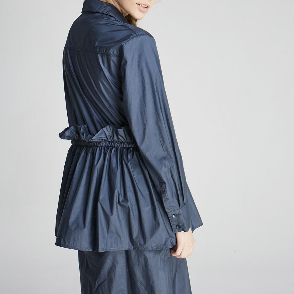 design+|抽皺剪裁洋裝/ (1702SH01BL)