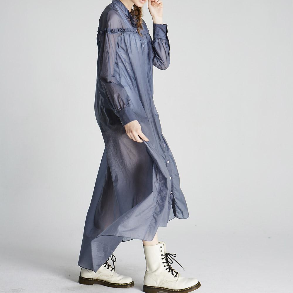 design+|透膚長版罩衫/ (1702DS02BL)