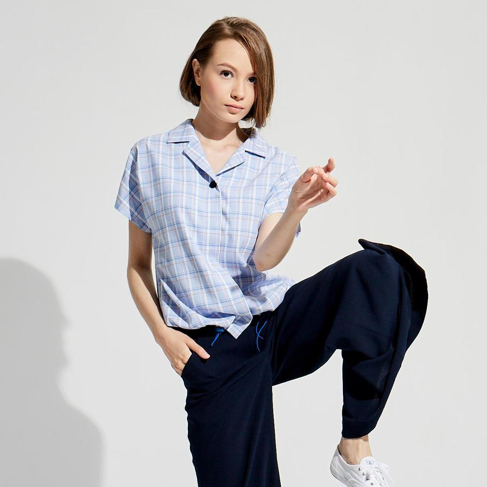 design+|夏日簡約格紋短衫/(1801TP04BL-S/M)