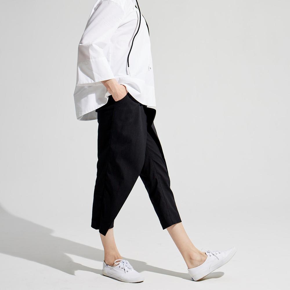 design+|設計休閒七分褲 /(1801PT02BK-S/M)