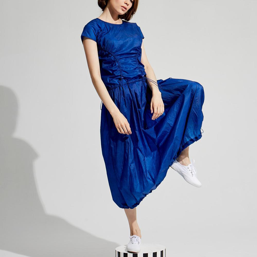 design+|海藍鬆緊連衣裙 /(1801DS02BL-S/M)