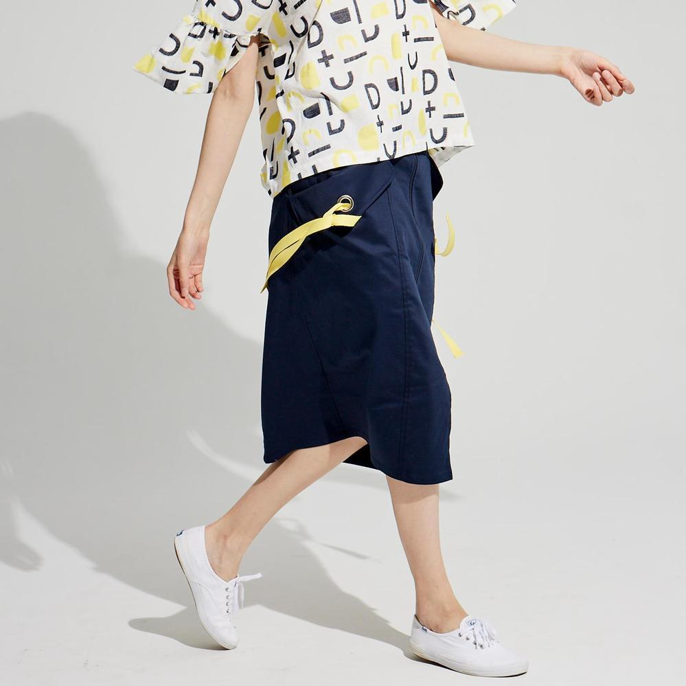 design+|夏季簡約休閒半身裙 /(1801SK01BL-S/M)