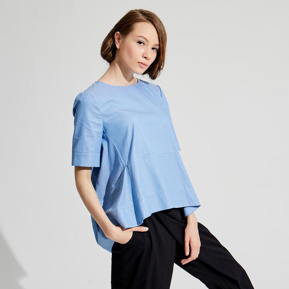 design+|極簡寬鬆設計上衣/藍、綠 /(1801TP05BL-S/M)、 (1801TP06GN-S/M)