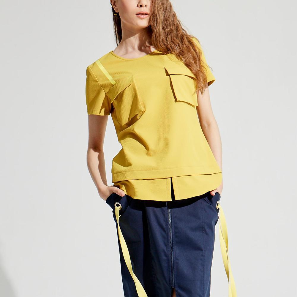design+|立體口袋造型上衣 /(1801TP03YL-S/M)