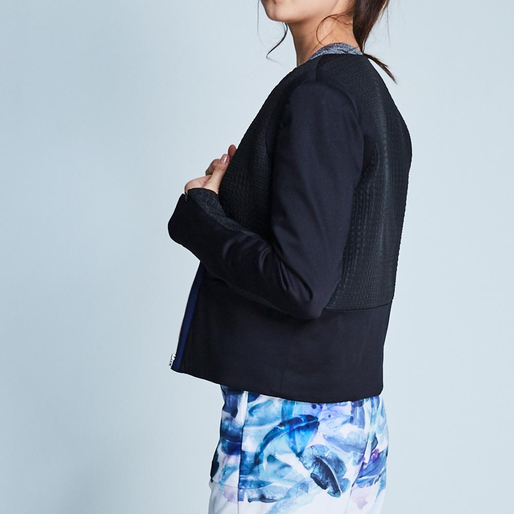 design+|拉鍊袖鋪棉外套/(183JK01BK06)