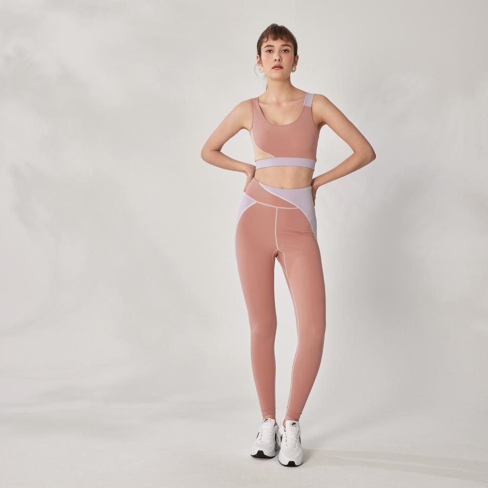 design+ 拼接運動緊身褲(21S1PT01PK0010F)