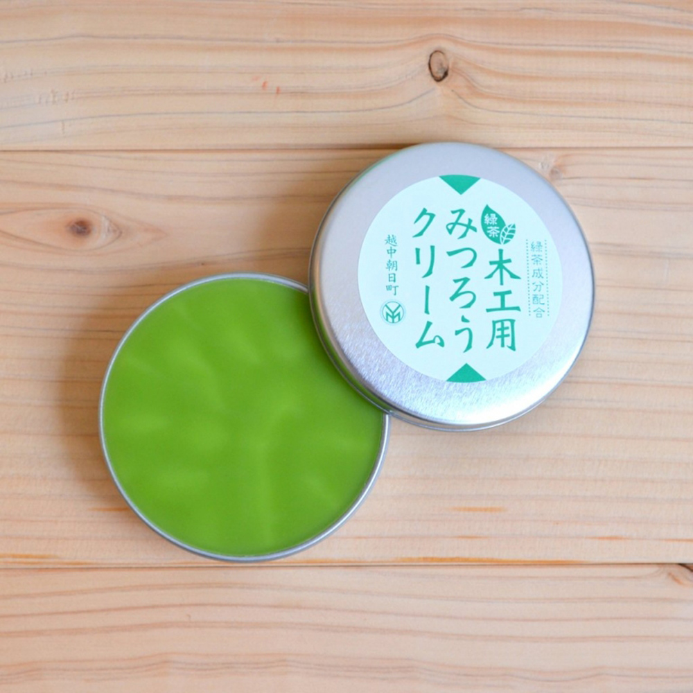 微森林|日本原裝進口天然蜜蠟霜-木工用40g綠茶