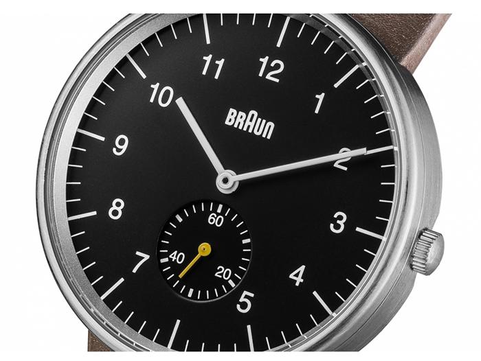 德國BRAUN百靈|經典小秒針石英錶(咖)