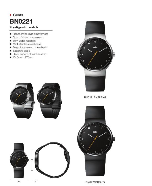 (複製)德國BRAUN百靈|尊爵系列極簡超薄石英錶 – 黑/銀