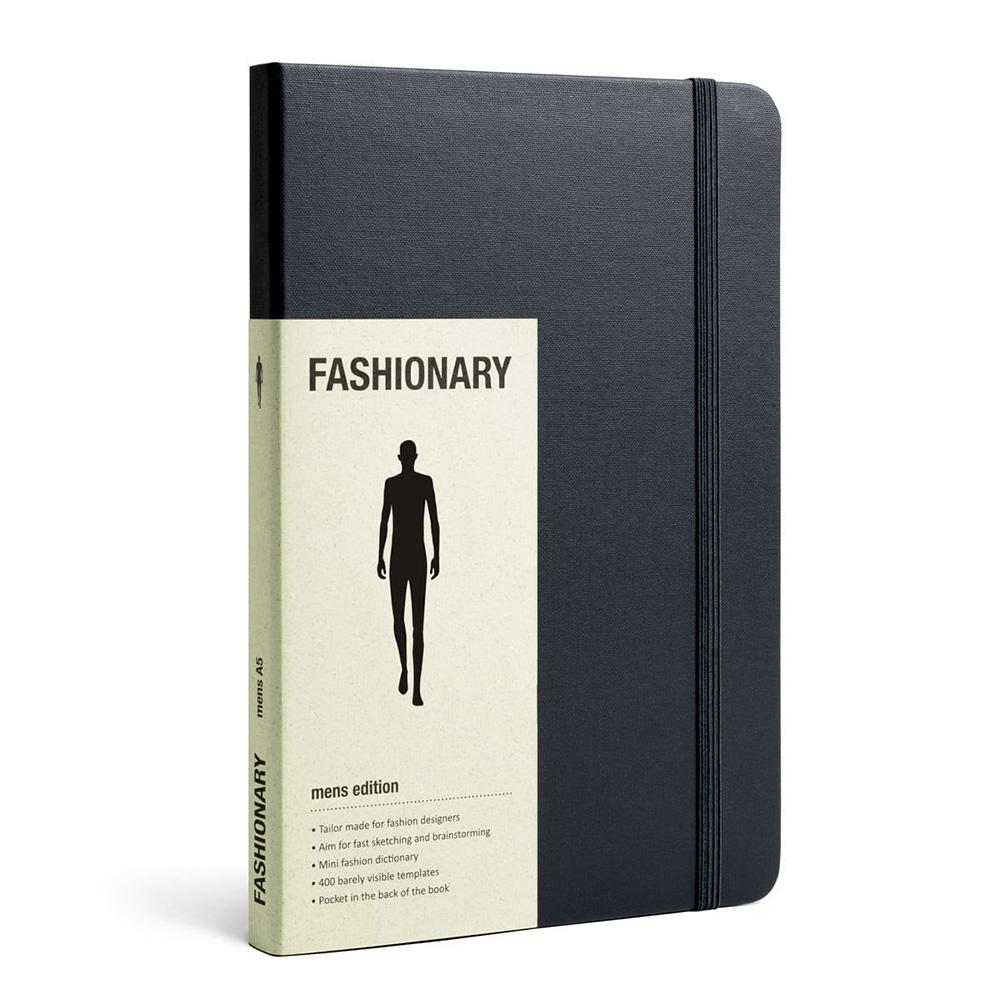 FASHIONARY|手繪本/ 男版/ A5/ 黑