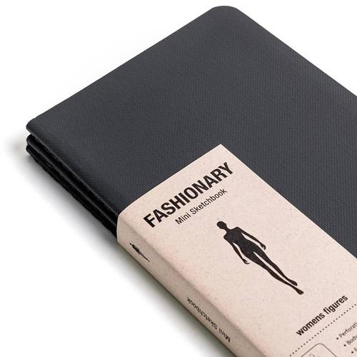FASHIONARY|手繪本/ 女版/ A6/ 3件組/ 黑