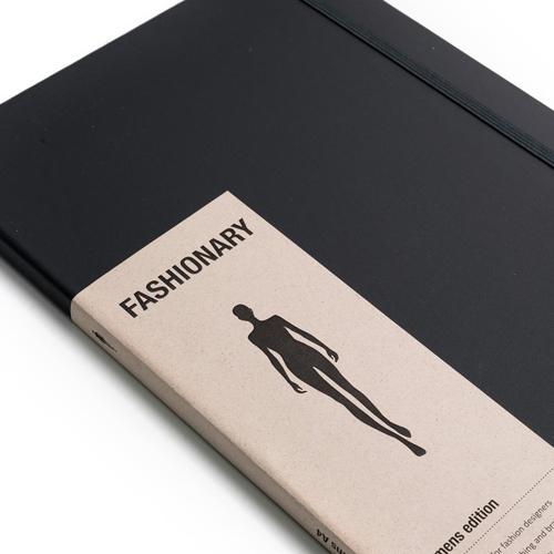 FASHIONARY|手繪本/ 女版/ A4/ 黑