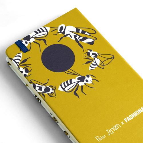 FASHIONARY|Peter Jensen聯名筆記本-Polka Bee /A6 (橫條紋)