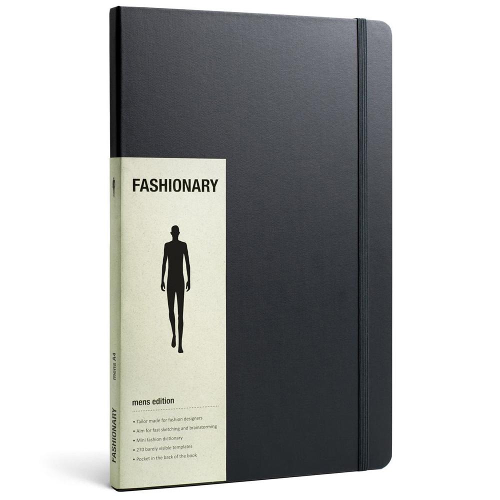 FASHIONARY|手繪本/ 男版/ A4/ 黑