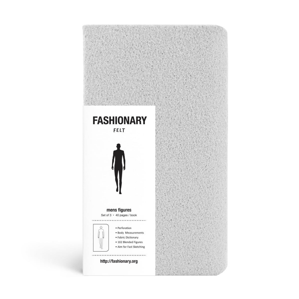 FASHIONARY|手繪本/ 男版/ A6/ 3件組/ 芋泥毛氈